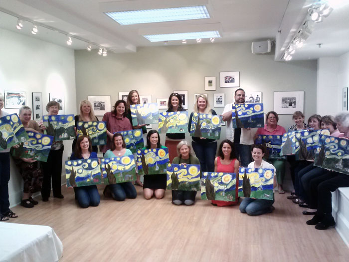 Art Institute & Gallery - Sip N Paint 2013